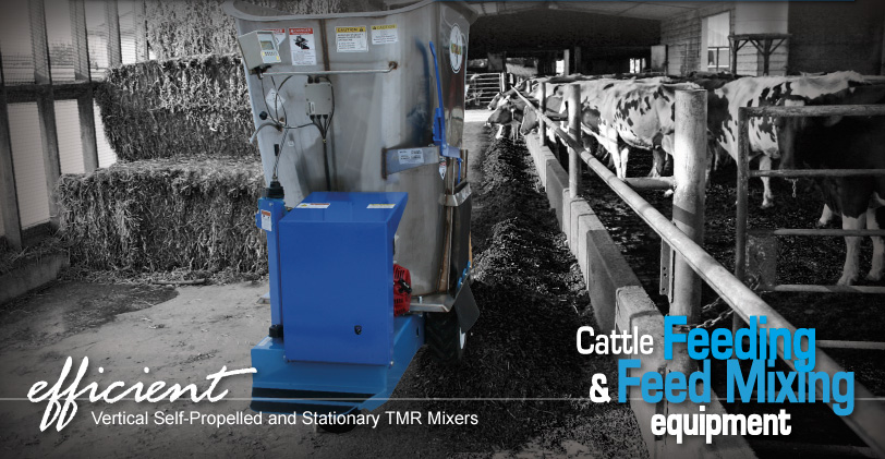 efficient Vertical Self-Propelled and Stationary TMR Mixers...Cattle Feeding & Feed Mixing Equipment